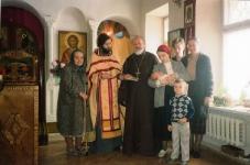 Е.С.Мечева, о.Николай, Людмила Бородина, Лариса Федянина