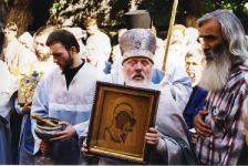 Казанская, молебен во дворе