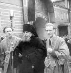 Владыка Арсений (Крылов) и его иподиаконы(Александр-справа).1950-е.