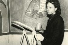 Фёдор Бородин расписывает колокольню